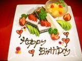 Birthday プレート 用意します!!